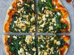 Pizza met een pittige toets