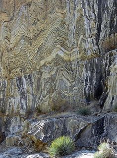 Tightly folded gneiss, Kings Canyon NP, CA nature has so many colors and beauty