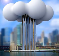 "Design for Death finalist Zhufei Zhufei's concept design for a columbarium called, ""Cloud of Stars"""