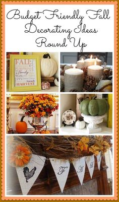 Simple Budget Friendly Fall Decorating Ideas the candles get from the dollar store, pine cones from the yard and arrange on a platter from the dollar store as well! budget friendly home decor #homedecor #decor #diy