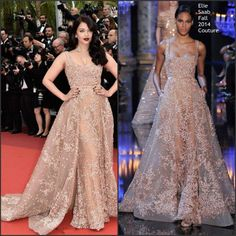 2016 Aishwarya Rai Inspired Formal Evening Dresses By Elie Saab With Square Neck Embroidery Tulle Beige Red Carpet Gowns With Sweep Train Fashion Evening Dresses Holiday Evening Dresses From Uniquebridalboutique, $358.8  Dhgate.Com