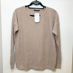 "BNWT blush Ollie sweater 70% cotton and 30% acrylic  26"" in length, $38 shipped ️️ Brandy Melville Sweaters Crew & Scoop Necks"