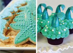Ideas para fiestas de la Sirenita Ariel | Tarjetas Imprimibles Sofia Mermaid, Mermaid Cupcakes, Mermaid Parties, Ideas Para Fiestas, Princess Party, Birthday Celebration, The Little Mermaid, Baby Shower, Desserts