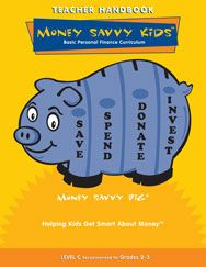 MONEY SAVVY KIDS curriculum teaches K-5 students the basics of personal finance, while reinforcing their reading, math, science, art and music skills. Fully scripted so lesson planning is simplified, the materials also include teacher handbooks, student workbooks, CD with presentation images, songs, a piggy bank, and a pig hand puppet.  Aligned to Common Core, Jump$tart, and NCTM standards.