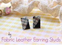 DIY Fabric Leather Earring Studs!!!   Ef Zin Creations