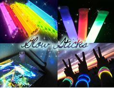 Glow sticks, glow bracelets, glow necklaces, it's ALL good! And super affordable, party tiiiiime: http://www.flashingblinkylights.com/light-up-products/glow-sticks.html