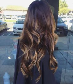 Chocolate brown and balayage