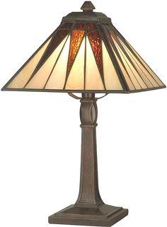 Dale Tiffany Cooper Accent Lamp Antique Bronze TA70680 | LampsUSA
