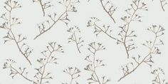 Blossom (JWP-1303) - Jocelyn Warner Wallpapers - A stunning design of climbing stems with blossoms intertwined with leaves tumbling down. Available in 5 colours. Shown in the rich lustrous samite off-white with pale grey and fresh white blossom. Please ask for sample for true colour match.
