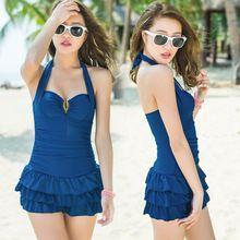 L'arrivée de nouveaux coréenne Style sources chaudes mode une pièce Push Up jupe maillot de bain de plage de bain femmes maillots de bain marque 2014(China (Mainland))