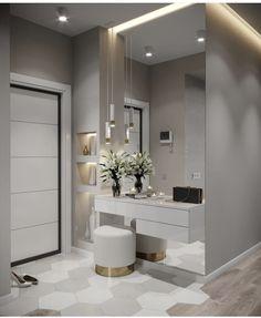Hall de entrada clean, moderno e lindo. Home, Hall Decor, Bedroom Closet Design, Room Interior, Bedroom Design, Living Room Interior, House Interior, Home Interior Design, Interior Design Bedroom