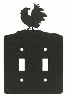 ROOSTER Double Light Switch Plate Cover