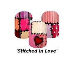 Made with love, just like how Grandma used to do it. #valentinenails #hearts #rebeckapearsonjn #nas #jamberry #love #ValentinesDay #nails #nailart