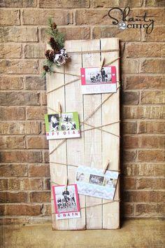 DIY Wood Christmas Card Holder