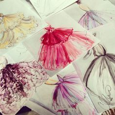 Sketches by Christian Siriano: limited prints available now at http://store.christiansiriano.com