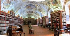 I saw two of the most beautiful libraries ever in the Starhov Monastery in Prague.