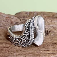 Sterling silver cocktail ring, 'Lady Wanderer' by NOVICA Silver Earrings Online, Silver Hoop Earrings, Silver Necklaces, Sterling Silver Jewelry, Wedding Rings Vintage, Wedding Ring Bands, Vintage Rings, Cheap Engagement Rings, Beautiful Engagement Rings