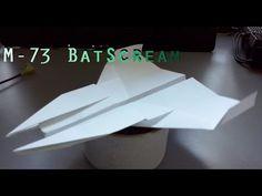 Avión de papel M-73 BatScream