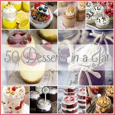 50 Desserts in a Jar - The Cottage Market #DessertsInJars, #MasonJarDesserts, #DessertsInMasonJars