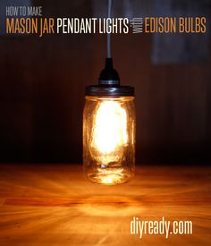 Mason Jar Crafts | Vintage Pendant Lighting