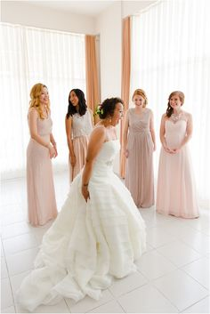 bridesmaids reaction to wedding dress - Becky Davis Photography - international wedding photographer