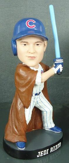 Wish I could go!  A portion of each ticket sold to the Aug. 20, 2014  Cubs Star Wars Night Special Event benefits the Anthony Rizzo Family Foundation. And each guest will get this cool Jedi Rizzo bobblehead! ~~ http://shoppingpromenade.com/