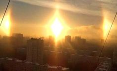 Russia - a great Sun between two other minor were seen on the city of Kazan?