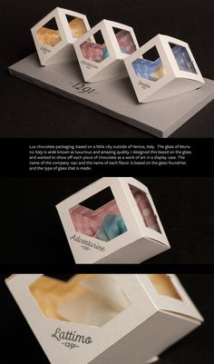 A packaging design for chocolate based on a city in Italy