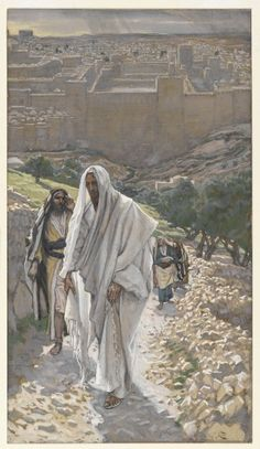 Jesus Goes in the Evening to Bethany (Jésus va le soir à Béthanie) : James Tissot : Free Download & Streaming : Internet Archive