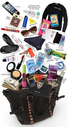 More Than 30 If You Have A Great Big Bag What You Need si tienes una gran bolsa grande, lo que necesitas wenn sie eine große große tasche haben, was sie benötigen se hai una grande borsa di cui hai bisogno Travel Bag Essentials, Road Trip Essentials, Packing Tips For Travel, Travel Hacks, Road Trip Checklist, Airplane Essentials, Road Trip Packing, Packing Hacks, Travel Necessities