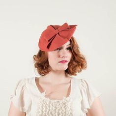 vintage 1930s Coral slouch hat