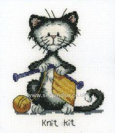 Buy Knit Kit Cross Stitch Kit Online at www.sewandso.co.uk