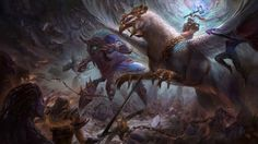 Download HotS Falstad Anubarak Sylvanas Kerrigan Sonya Nova Battle by Aivablue 3840x2160