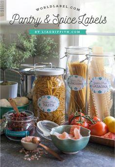 Etiquetas de estilo nórdico para pasta y especias imprimibles // Pantry and spice labels scandinavian style free printable