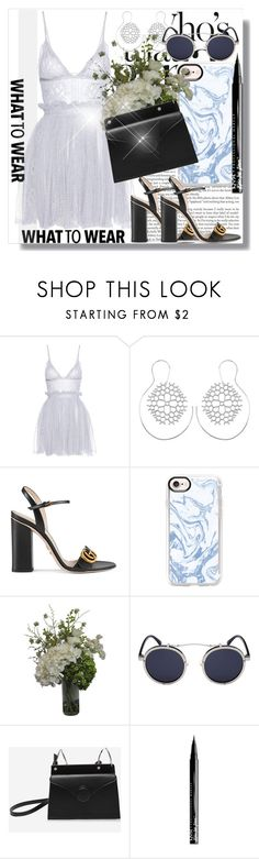 """Ready for the weekend !!"" by dianagrigoryan ❤ liked on Polyvore featuring Alexander McQueen, Gucci, Casetify, Abigail Ahern and NYX"