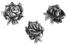Black Rose Tattoos by Gitoku.deviantart.com