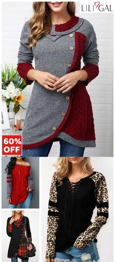 Free Shipping & Easy Return. Liligal casual sweatshirts, long sleeve printed t shirts, cute holiday tops, comfy fall winter outfits for women, shop now~ #liligal #womensfashion #tshirt #winter #sweatshirts Winter Outfits 2019, Winter Outfits Women, Fall Outfits, Casual Outfits, Cute Outfits, Fashion Outfits, Womens Trendy Tops, Clothes 2019, Casual Sweaters