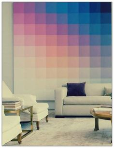 pantone wall, home decor ... I want to have babies with this.