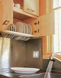 Escorredor de pratos na parede: Liberando a bancada!! + Pesquisa de mercado Arquitrecos