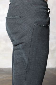 09MAX GREEN CARBON 4 POCKET TIGHT PANTS by Ma+