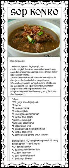 Soup Recipes, Snack Recipes, Dessert Recipes, Cooking Recipes, Indonesian Cuisine, Pesto Recipe, Simply Recipes, Cooking Time, Asian Recipes