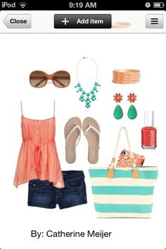 Summer outfit for the beach.