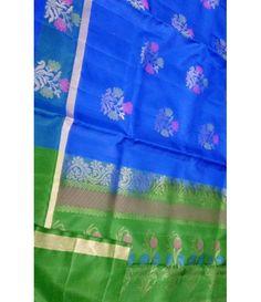Blue Handloom Kanjeevaram Silk Saree