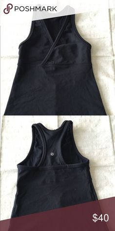 Old school cool 😎. Cross front Lulu tank. This is a Lulu original. It's from the glory days of Chip Wilson (Lulu owner) when he started up the company. This is THE MOST DURABLE SHURT I OWN, and the damn thing doesn't fit anymore! The sizing is smaller than newer Lulu. This is 2 and it fits snug and is shorter in the body, but it will last absolutely forever! I am super sad to part with it! lululemon athletica Tops Tank Tops
