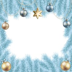 Christmas Transparent Elegant Frame Border | Gallery Yopriceville - High-Quality Images and Transparent PNG Free Clipart