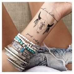 Symbols and Sayings Tattoo styled by gypsylovinlight on FP Me