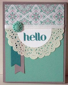 Simple lace card
