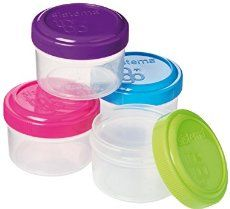 Sistema To Go Collection Dressing Food Storage Containers, 1._.1 Ounce, Assorted Colors, Set of 4