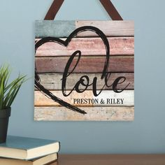 Need a unique gift? Send Scripted Heart Wood Plaque and other personalized gifts at Personal Creations.