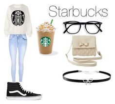 """Starbucks"" by duna748 ❤ liked on Polyvore featuring Glamorous, Vans, Charlotte Russe and Giani Bernini"